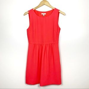 J. Crew Neon Pink Camille Fit & Flare Dress